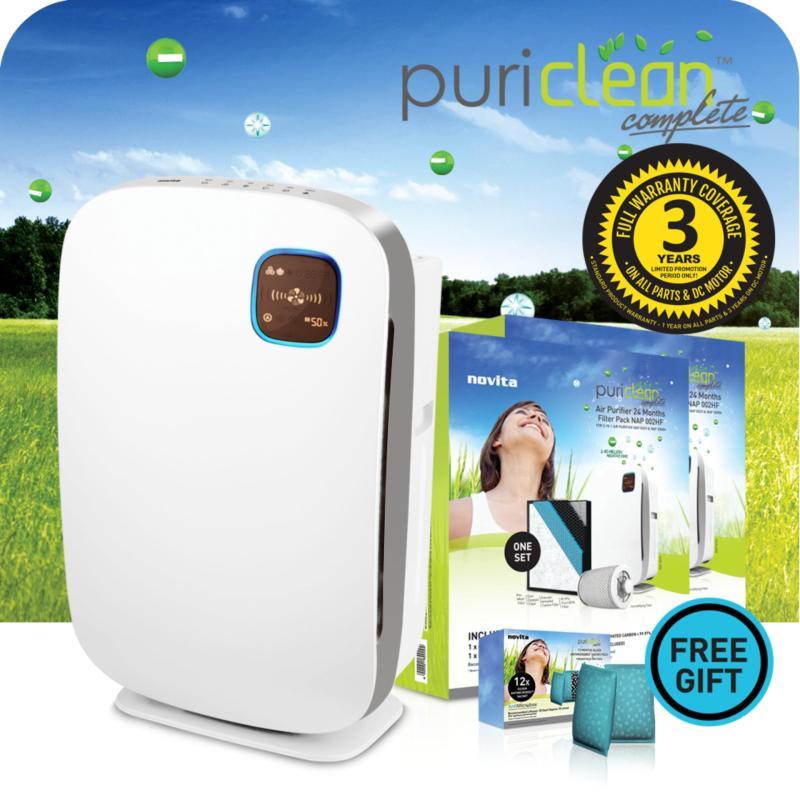 novita PuriClean™ Complete 3-In-1 Air Purifier NAP002Hi + FOC 2 x Filter Bundle Pack Singapore