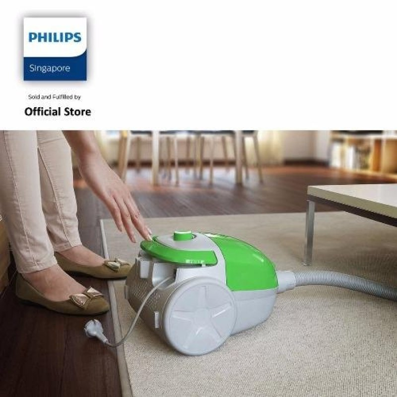 Philips FC8083/61 EasySpeed Vacuum Cleaner with Bag, 1400W Motor - White/Green Singapore