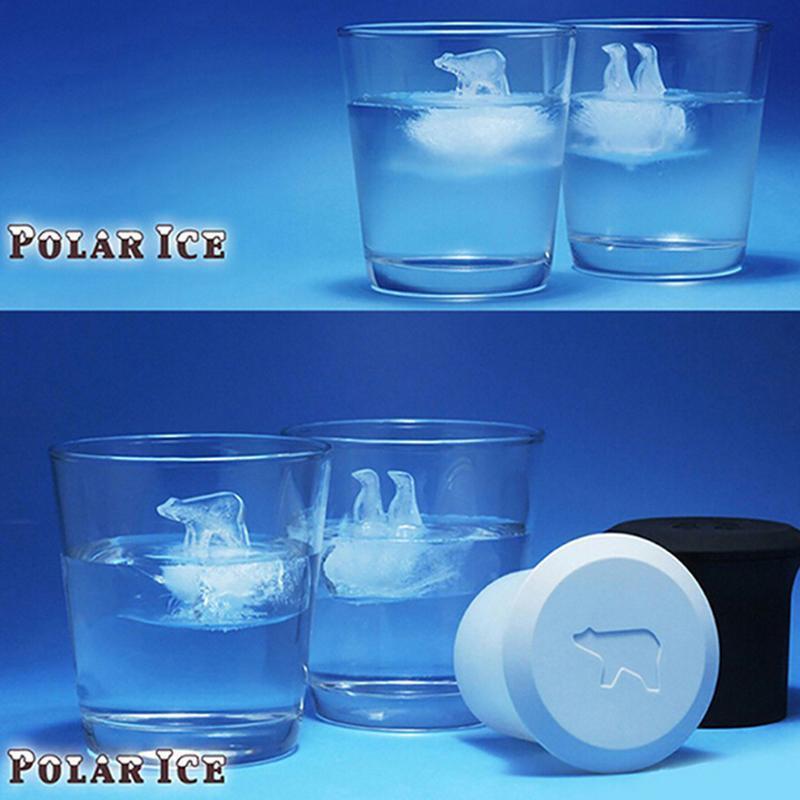 Polar Bear Penguin Jelly Choc Ice Cube Mold Maker Mould