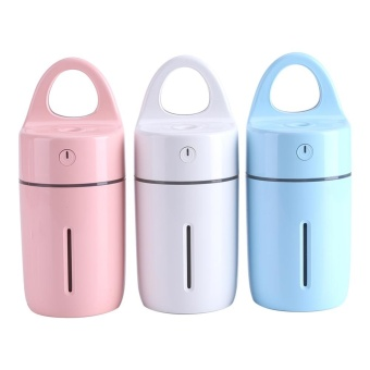 Portable Car Home USB Colorful Night Light Cup Shape Humidifier AirDiffuser Mist Maker (Blue) - intl - 4