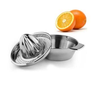 Stainless Steel Hand Press Orange Juicer Citrus Juicer Lemon Lime Juice Maker with Easy Bowl Fruit