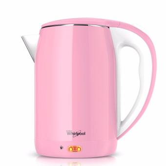 Whirlpool 2L Stainless Steel Electric Kettle with Keep Warm Function - Powder Pink - 2