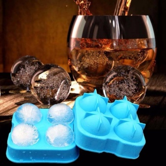 Whiskey Silicon Ice Cube Ball Maker Mold Sphere Mould Brick PartyTray Round Bar - intl - 3