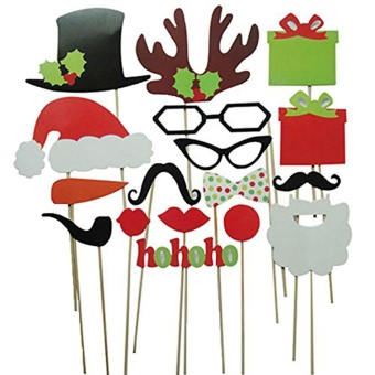 Womdee Christmas Photo Booth Party Fun Wedding Christmas Birthday Props (17pcs) - intl