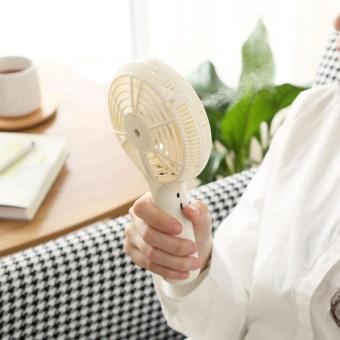 XinNing USB Mini Handheld Spray Fan Humidifier Fan Rechargeable Portable Personal Cooling Mist Fan,White - intl - 5