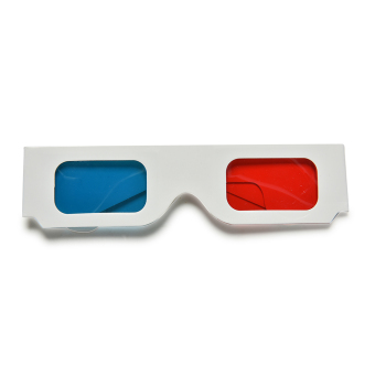 10Pc X Universal Anaglyph Cardboard Paper Red Blue Cyan 3D GlassesFor Movie - 4