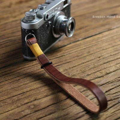 15mm retro leather photography strap rope wrist strap