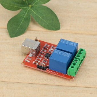 2 Channel 5V USB Relay Programmable Computer Control Relay forSmart Home - intl - 2