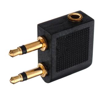 2 pcs Airplane Earphone Jack Audio Adapter 3.5mm - 3