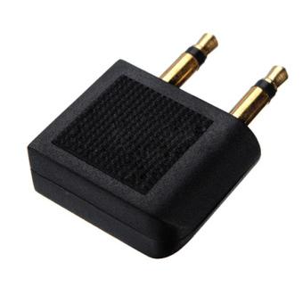 2 pcs Airplane Earphone Jack Audio Adapter 3.5mm - 2