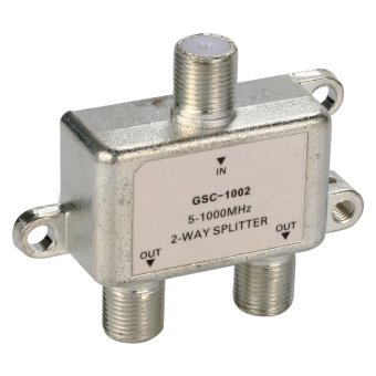 Harga 2 Way Cable TV Splitter Switch BI126-SZ (Silver)
