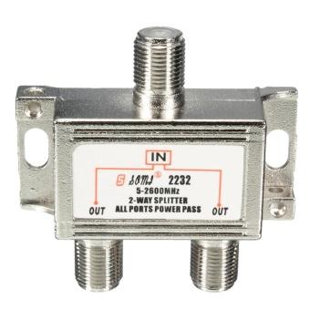 2 Way TV Satellite Cable Splitter Combiner for Sky Virgin Signal Media 5-2600mhz -