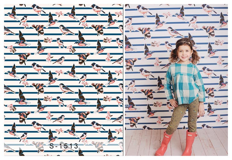 2017 korean version of the children's photography studio themebackground cloth hundred days baby photo photography backgroundpictures S-1513 bird