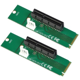 2pcs M.2 NGFF SSD Male to PCI-e Express 4X Female Converter Adapter Card - intl