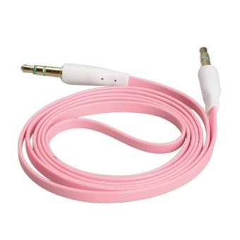 3.5mm Male to Male Stereo Audio Jack AUX Auxiliary Cable for iPod MP3 Pink