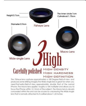 3 in One iPhone Camera Lens For iPhone 4/4S - 5