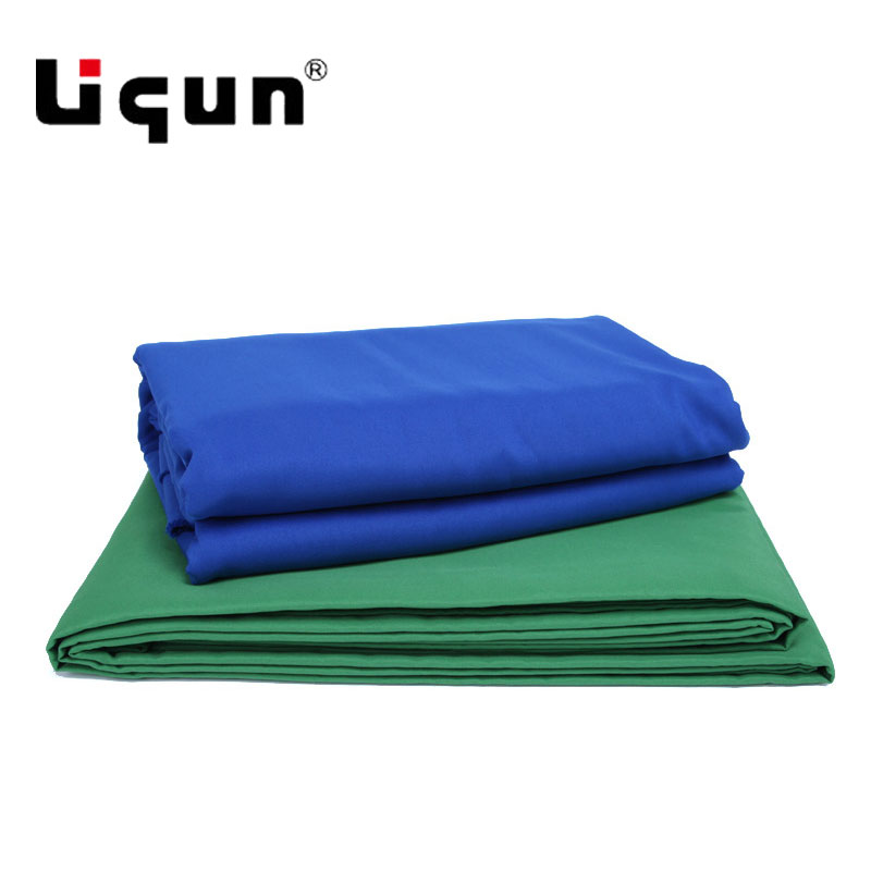3.2X3 M/6 m video camera keying cloth fiber cotton background cloth blue buckle green button white black optional