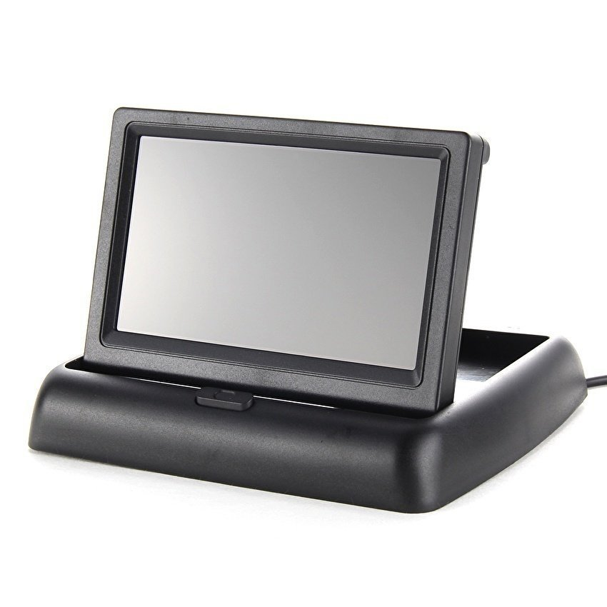 4.3 Foldable TFT LCD Monitor+Car Rear View SystemBackupReverseCamera - intl