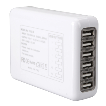 4A 6-Port USB Portable Travel AC Plug Home Wall Power Charger - intl