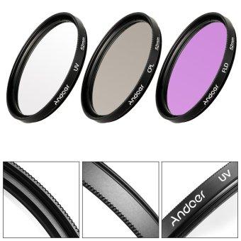 Andoer 52mm Filter Kit (UV+CPL+FLD) - 2