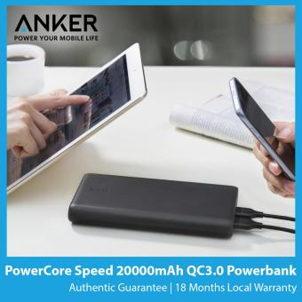 Harga Anker PowerCore Speed 20000mAh Quick Charge 3.0 Powerbank