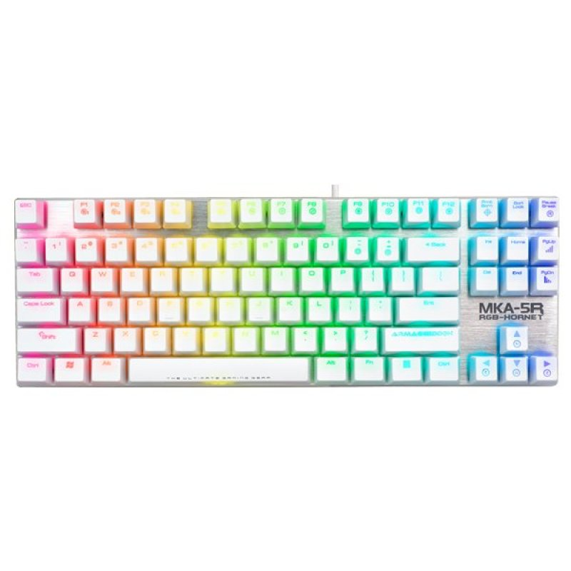 Armaggeddon Marco-Able™ RGB Keyboard MKA-5R White (Red Switch) Singapore