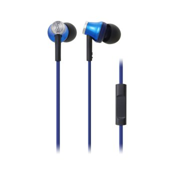 Audio-Technica ATH-CK330iS In-Ear Headphones (Blue)