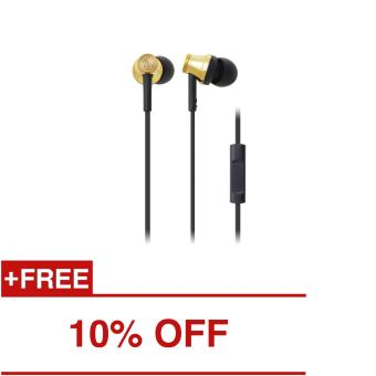 Audio-Technica ATH-CK330iS In-Ear Headphones (Gold)