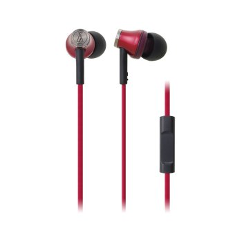 Audio-Technica ATH-CK330iS In-Ear Headphones (Red)