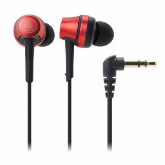 Audio-Technica ATH-CKR50iS In Ear Headphones for Smartphone (Metallic Red)