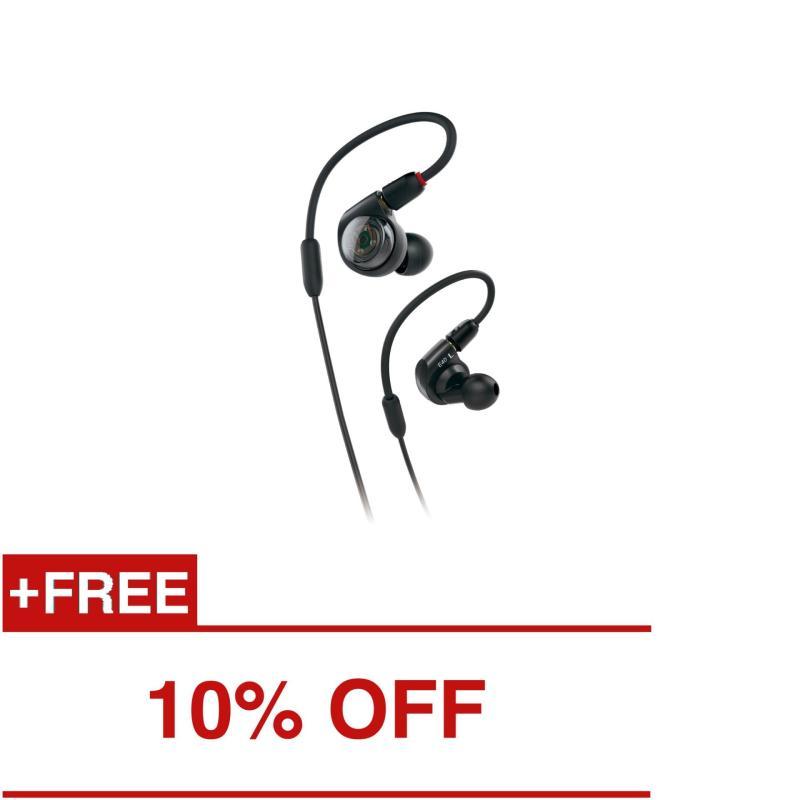 Audio-Technica ATH-E40 Professional In-Ear Monitor Headphones (Black) Singapore