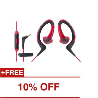 Audio-Technica ATH-SPORT1iS In-Ear Headphones Red