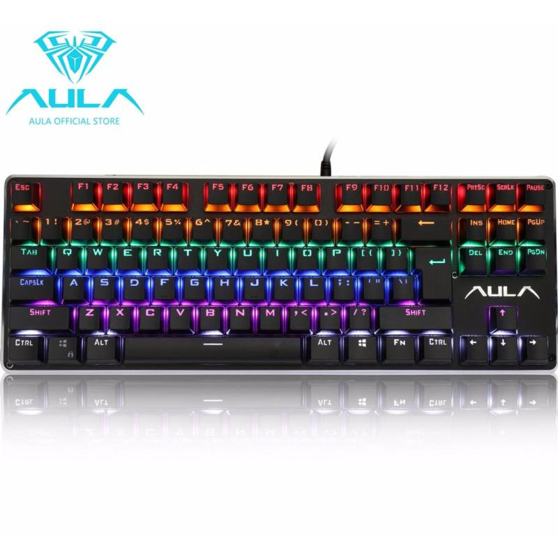 AULA OFFICIAL F2012 Mechanical Gaming Keyboard Multicolor Backlit(Black) Singapore