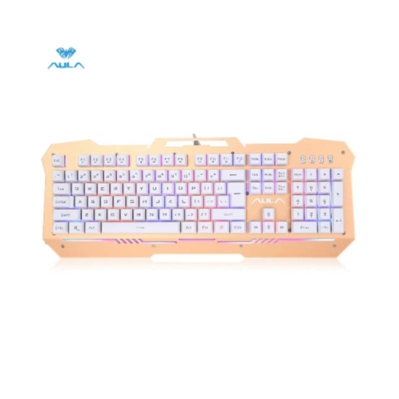 AULA Wired Optical Gaming Keyboard with LED Backlit - intl Singapore