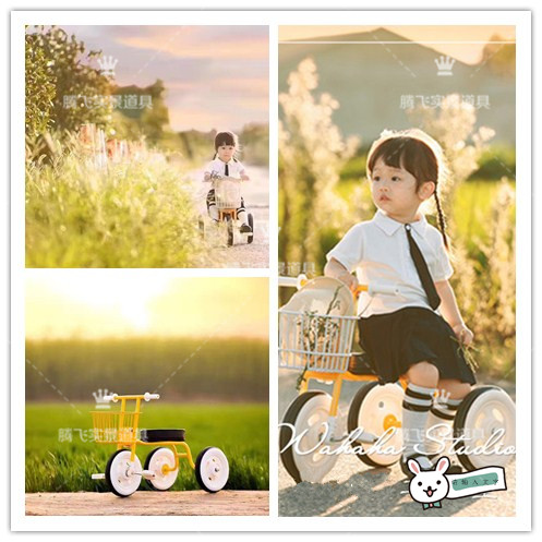 Baby hot New style children's photoshoot bicycle tricycle