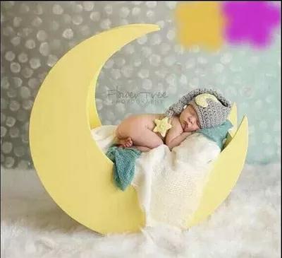 Baobao children studio photography props moon bed