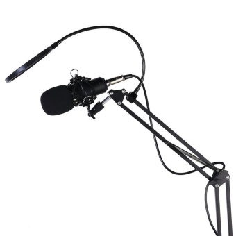 BM-800 Broadcasting Recording Condenser Microphone+ Arm Stand Kit (Black) - intl