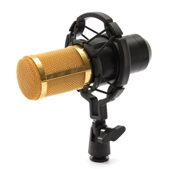BM800 Condenser Microphone Recording With Shock Mount Kit (Black) -intl