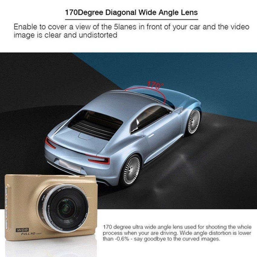 Car Cameras HD Car DVR Car Camera Video Recorder DashCamCamcorder(Gold) - intl