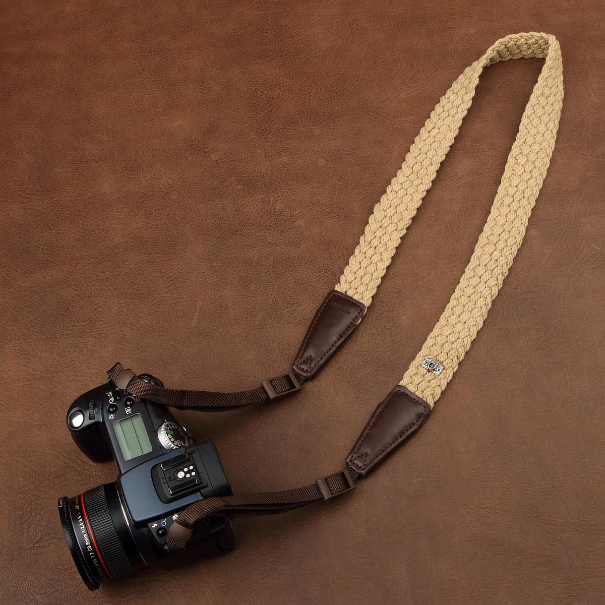 Classic 30mm retro woven breathable SLR strap