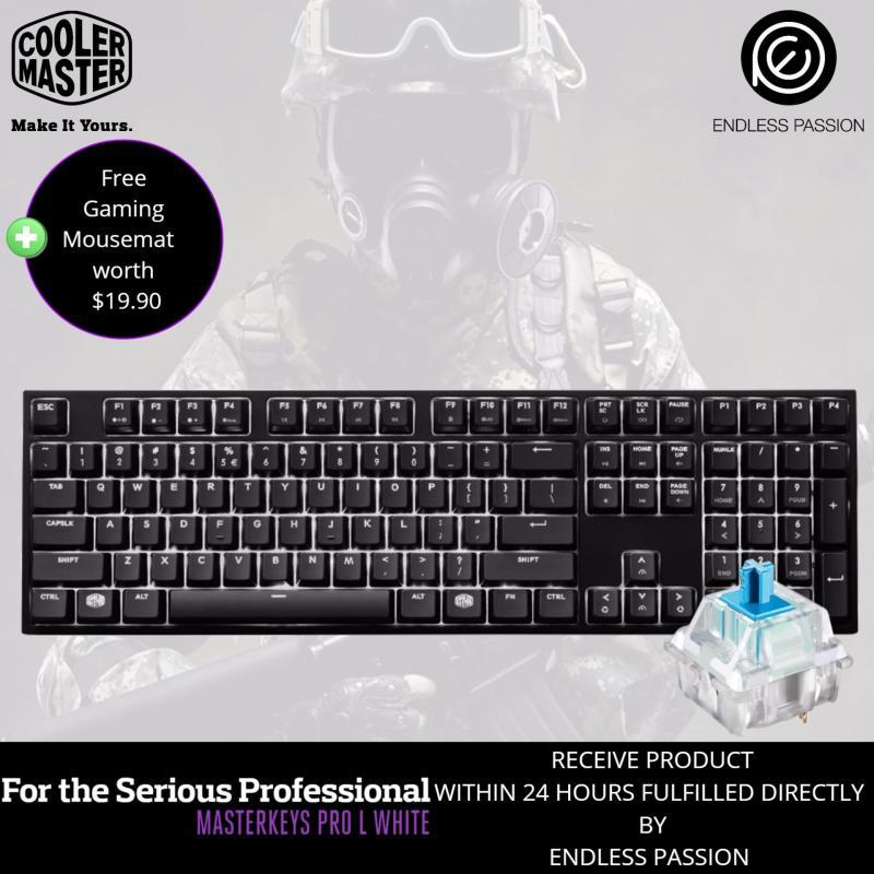 Cooler Master Masterkeys PRO L WHITE LED Mechanical Gaming Keyboard - MX Cherry Red/Brown/Blue Singapore