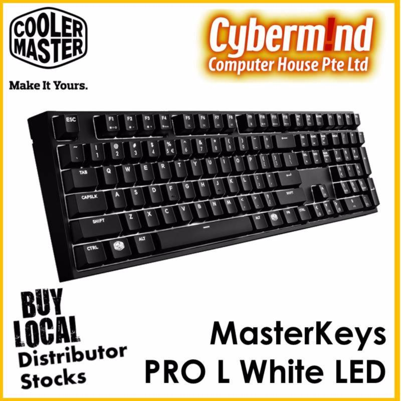 CoolerMaster Masterkeys Pro L White LED Mechanical Keyboard (Cherry MX Blue switch) Singapore