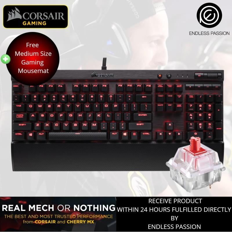 Corsair K70 LUX Mechanical Gaming Keyboard — Red LED — Cherry MX Red Singapore