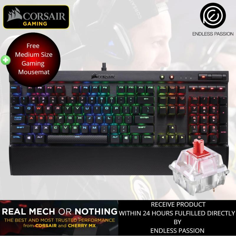 Corsair K70 LUX RGB Mechanical Gaming Keyboard (Cherry MX Red Switch) Singapore