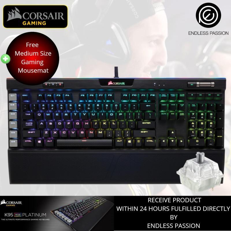 Corsair K95 Platinum RGB RapidFire Cherry MX Speed Mechanical Gaming Keyboard - Gunmetal Base Edition Singapore