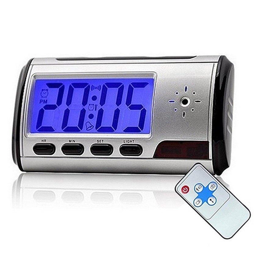Digital Alarm Clock Spy Hidden Pinhole Camera - Motion Detect - intl