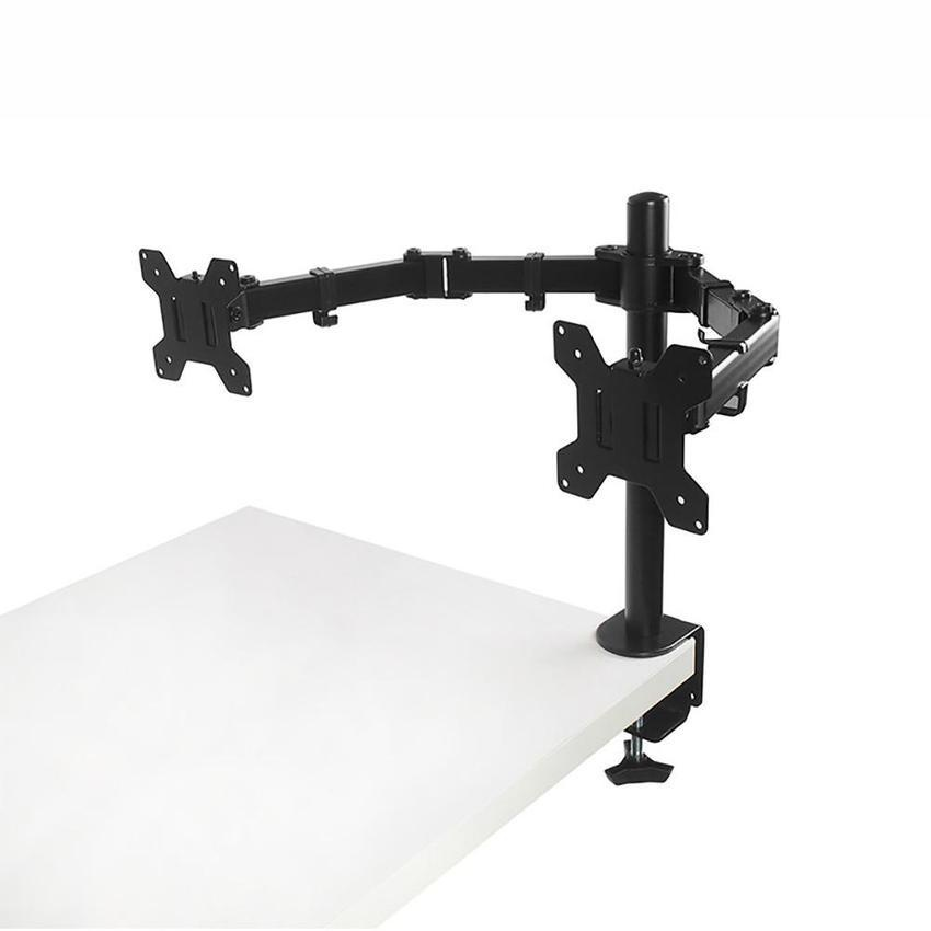 Dual Monitor And Poor Houder Verstelbare Desk Mount Stand Voor Twee Lcd Schermen Fit For 10