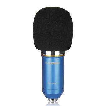 Floureon BM-800 Cardioid Condenser Microphone With ShockMount(Blue) - 3