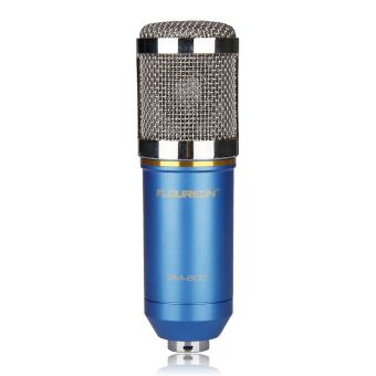 Floureon BM-800 Cardioid Condenser Microphone With ShockMount(Blue) - 2