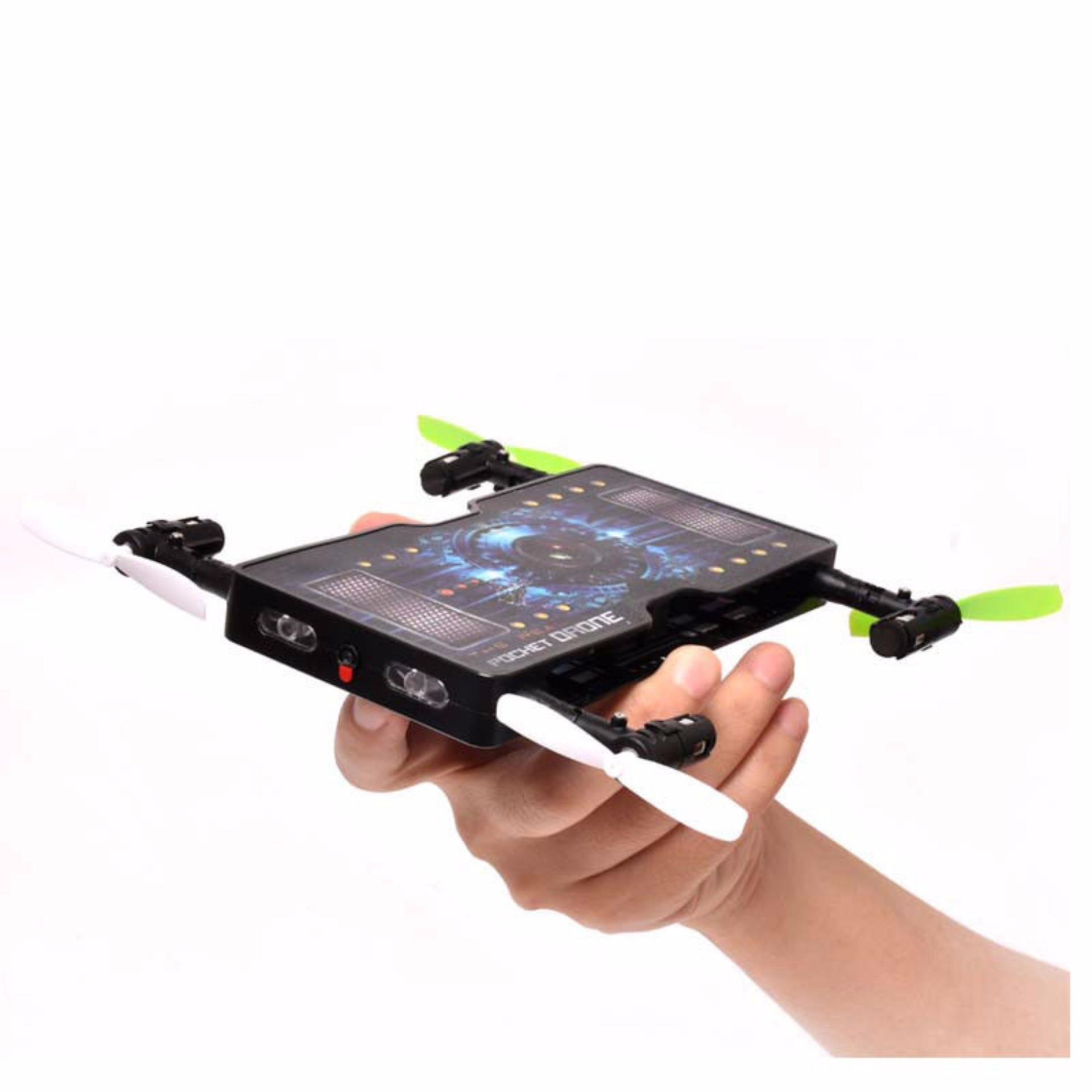 Folding Pocket Mini Drone Wifi Selfie Camera 24G 4CH RC Quadcopter1325